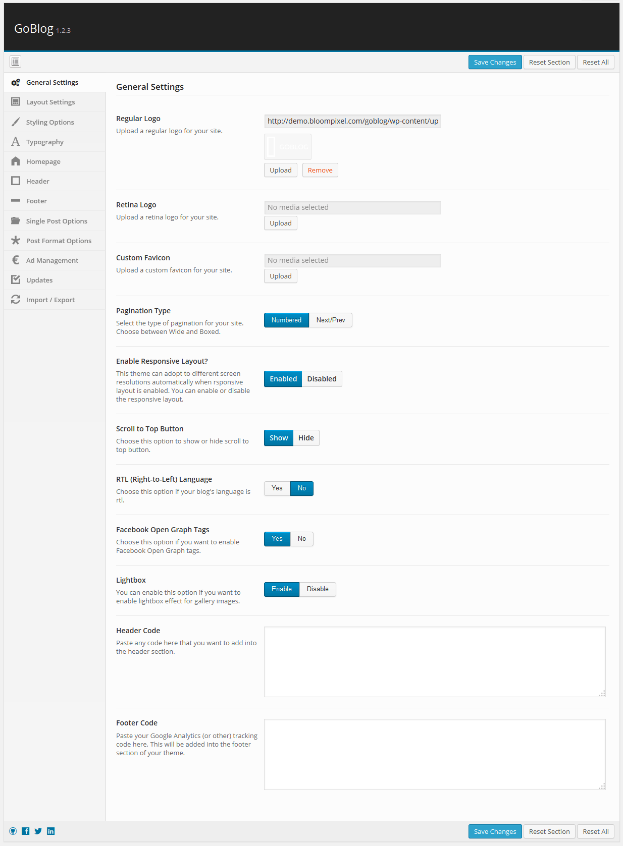 goblog-general-settings